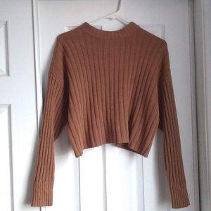 Oversize long sleeve ribbed sweater